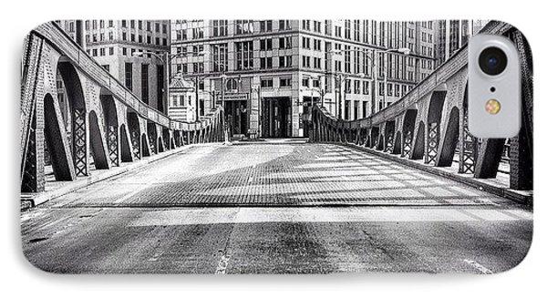 #chicago #hdr #bridge #blackandwhite IPhone Case by Paul Velgos