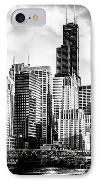 Chicago High Resolution Picture In Black And White IPhone Case