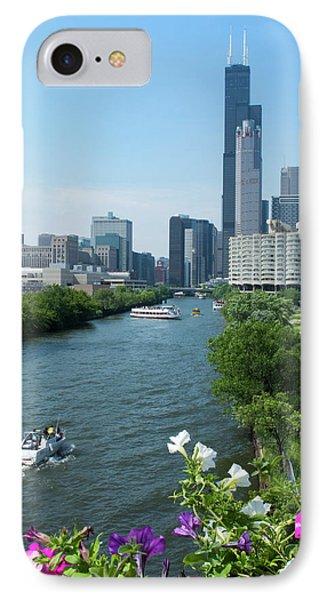 Chicago, Illinois Skyline IPhone Case