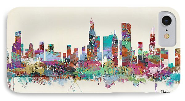 Chicago Illinois Skyline IPhone Case by Bri B