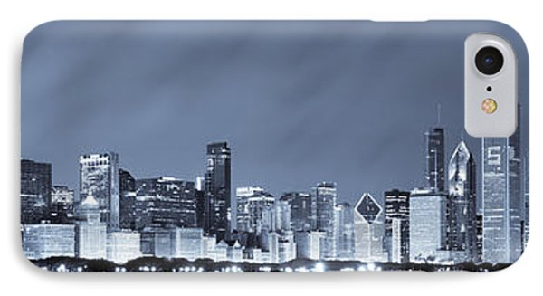 Chicago In Blue IPhone Case by Sebastian Musial