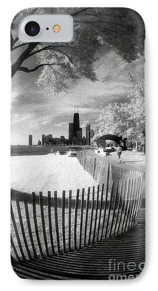 IPhone Case featuring the photograph Chicago Lakefront Infrared by Martin Konopacki