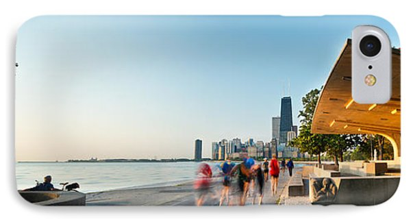 Chicago Lakefront Panorama IPhone Case by Steve Gadomski