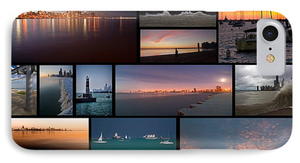 Chicago Lakefront Photo Collage IPhone Case
