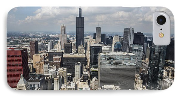 Chicago Loop Aerial IPhone Case by Adam Romanowicz