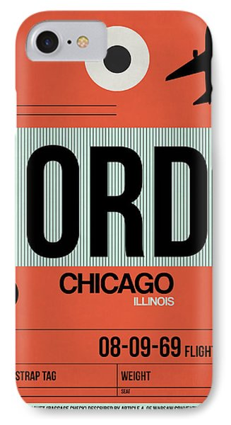 Chicago Luggage Poster 2 IPhone Case by Naxart Studio