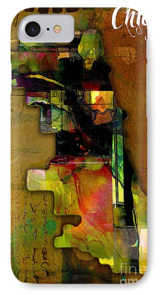 Chicago Map Watercolor IPhone Case by Marvin Blaine