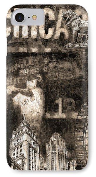Chicago Memories In Sepia Tones IPhone Case by Joseph Catanzaro