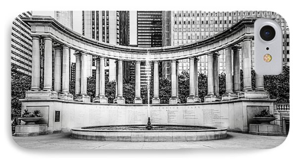 Chicago Millennium Monument In Black And White Phone Case by Paul Velgos