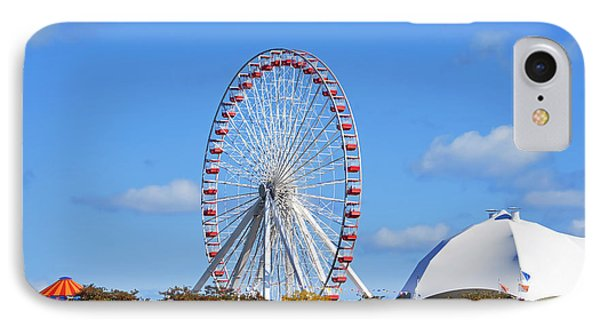 Chicago Navy Pier Ferris Wheel Phone Case by Christine Till