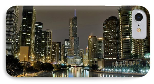 Chicago Night River View IPhone Case