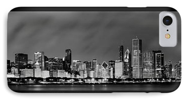 Chicago Panorama At Night IPhone Case by Sebastian Musial
