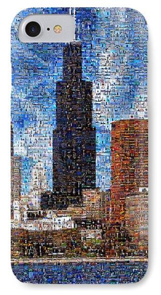 Chicago Photo Mosaic IPhone Case by Wernher Krutein