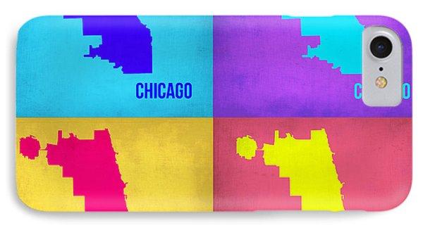 Chicago Pop Art Map 1 Phone Case by Naxart Studio