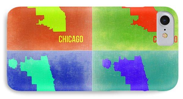 Chicago Pop Art Map 2 IPhone Case