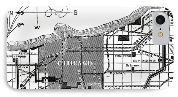 Chicago Railway Map, 1878 IPhone Case by Granger