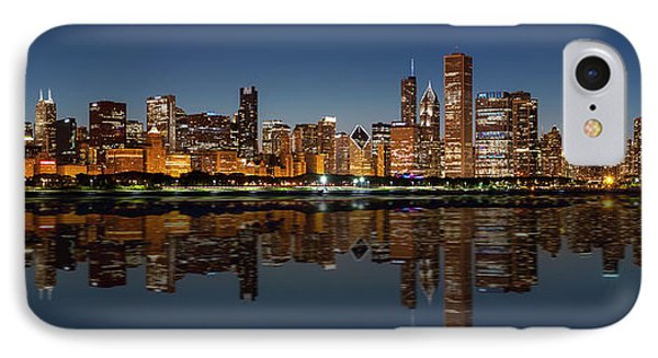Chicago Reflected IPhone Case by Semmick Photo
