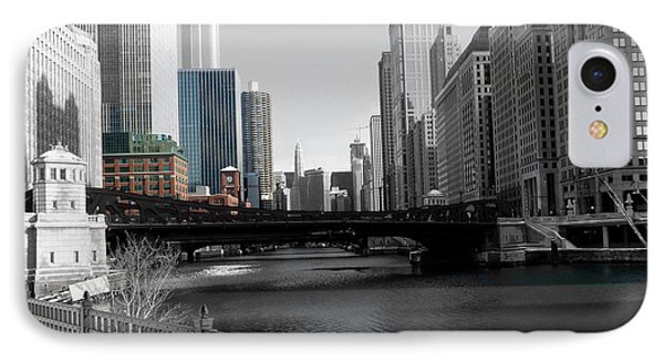 Chicago River At Franklin Street Phone Case by David Bearden