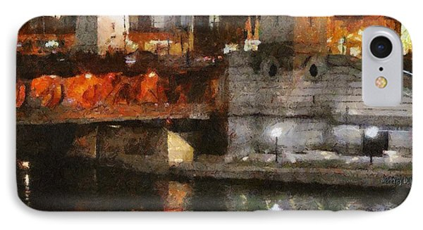Chicago River At Michigan Avenue IPhone Case by Jeff Kolker