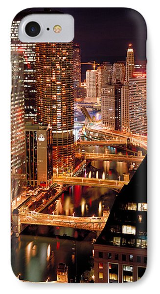 Chicago River At Night Phone Case by Thomas Firak