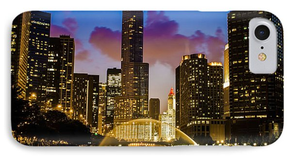 Chicago River Dusk Scene IPhone Case by Sven Brogren