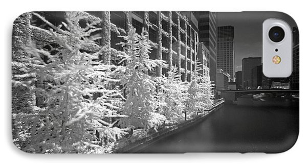 IPhone Case featuring the photograph Chicago River Infrared by Martin Konopacki
