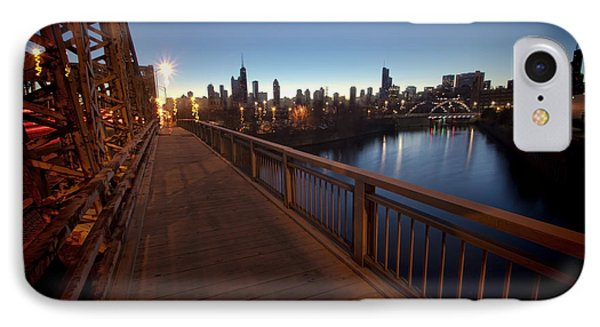 Chicago River Scene At Dawn IPhone Case