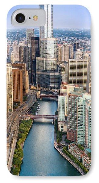 Chicago River Sunrise Phone Case by Steve Gadomski