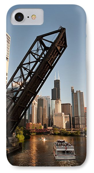 Chicago River Traffic Phone Case by Steve Gadomski