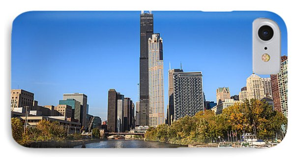 Chicago River With Willis-sears Tower IPhone Case