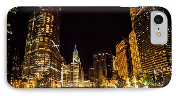 Chicago Riverwalk IPhone Case by Melinda Ledsome