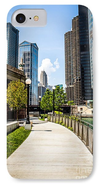 Chicago Riverwalk Picture Phone Case by Paul Velgos