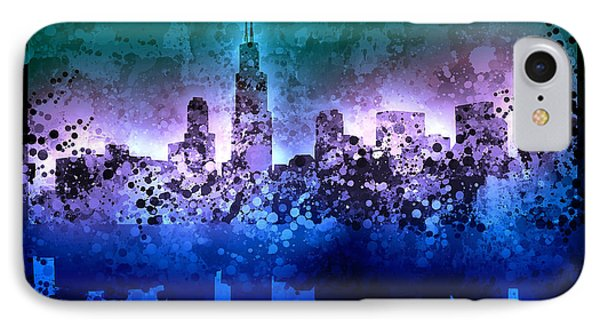 Chicago Skyline Abstract 2 IPhone Case