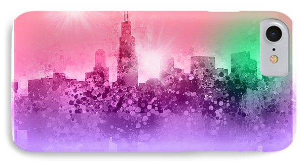 Chicago Skyline Abstract 3 IPhone Case