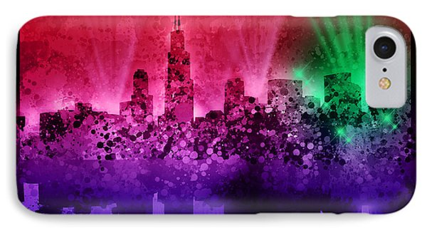 Chicago Skyline Abstract 4 IPhone Case
