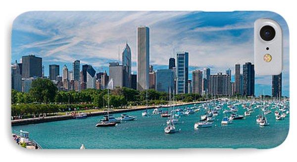 Chicago Skyline Daytime Panoramic IPhone 7 Case by Adam Romanowicz