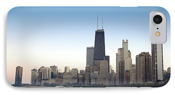 Chicago Skyline And Lake IPhone Case by Linda Matlow