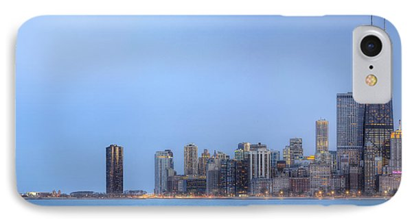 IPhone Case featuring the photograph Chicago Skyline And Navy Pier by Shawn Everhart