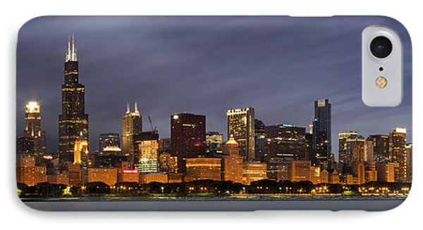 Chicago Skyline At Night Color Panoramic IPhone 7 Case