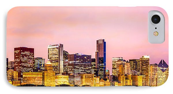Chicago Skyline At Night Panorama Picture IPhone Case by Paul Velgos