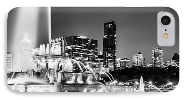 Chicago Skyline At Night Panoramic Picture IPhone Case