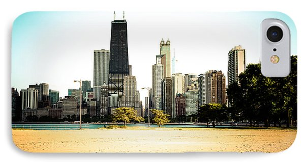 Chicago Skyline At North Avenue Beach Photo IPhone Case by Paul Velgos