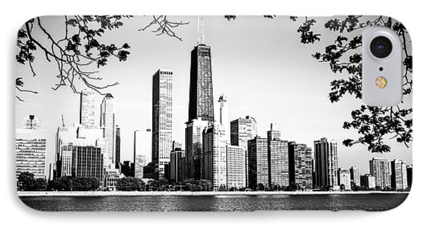 Chicago Skyline Black And White Picture IPhone Case by Paul Velgos