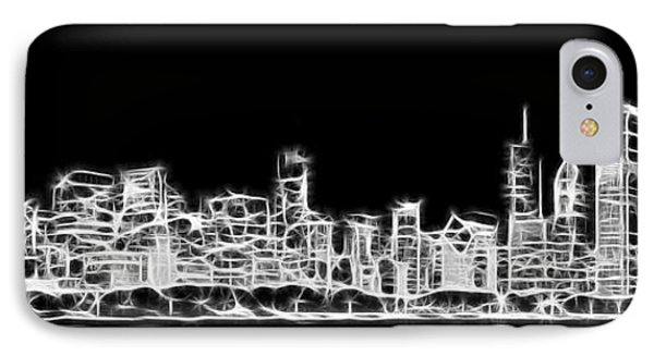 Chicago Skyline Fractal Black And White IPhone Case