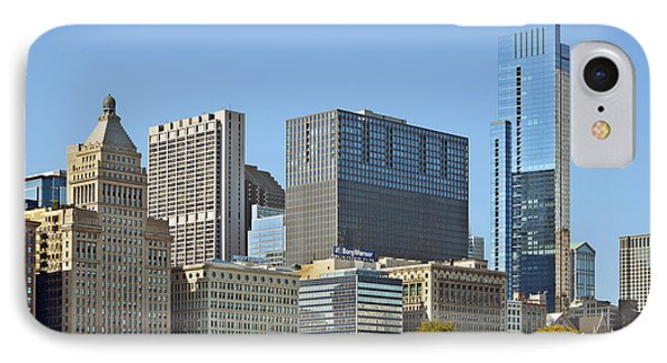 Chicago Skyline From Millenium Park II IPhone Case by Christine Till