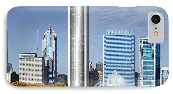 Chicago Skyline From Millenium Park Iv Phone Case by Christine Till