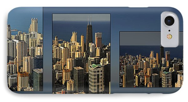 Chicago Skyline From Willis Tower Phone Case by Christine Till