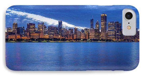 Chicago Skyline June 2014 Evening IPhone Case by Donald Schwartz