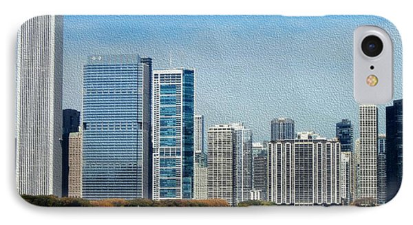 IPhone Case featuring the photograph Chicago Skyline by Kathie Chicoine