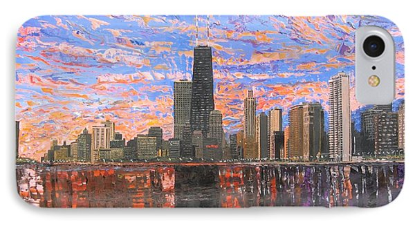 Chicago Skyline - Lake Michigan IPhone Case by Mike Rabe